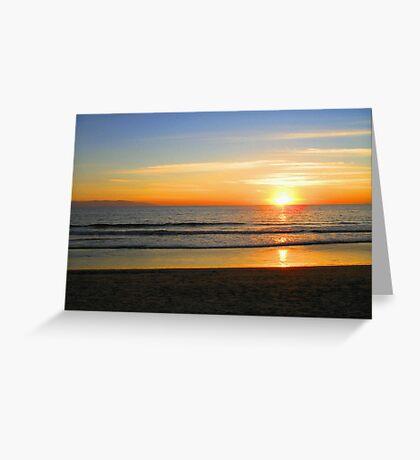 Ocean fire Greeting Card