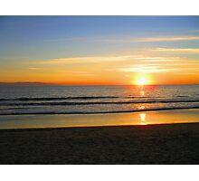 Ocean fire Photographic Print