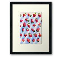 Sunset Strawberries Framed Print