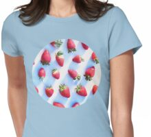 Sunset Strawberries Womens Fitted T-Shirt