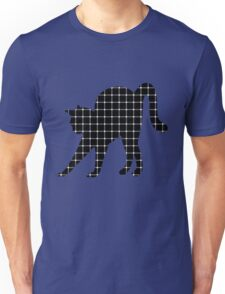 Black Cat Optical Illusion Effect Unisex T-Shirt