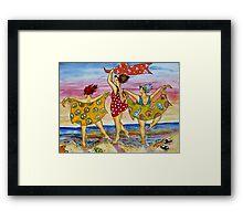 Peace. Love. Beach. Framed Print