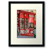 On the Corner Framed Print