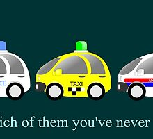 Cars funny police, taxi and rescue a funny question by Desenatorul1976