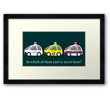 Cars funny police, taxi and rescue a funny question Framed Print