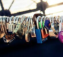 NEW YORK - Brooklyn Bridge Love Locks by JamesShannon