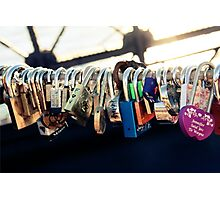 NEW YORK - Brooklyn Bridge Love Locks Photographic Print