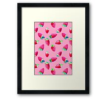 Pink Strawberry Pop Framed Print