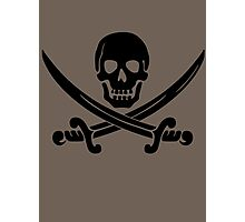 Pirate Flag Skull and Crossed Swords by Chillee Wilson Photographic Print