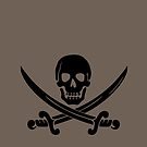 Pirate Flag Skull and Crossed Swords by Chillee Wilson by ChilleeWilson
