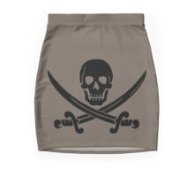 Pirate Flag Skull and Crossed Swords by Chillee Wilson Pencil Skirt