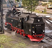 Steam locomotive of the class 99 of Harzer Schmallspurbahn. by trainmaniac