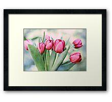 Twilight Tulips Framed Print