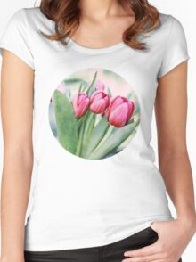 Twilight Tulips Women's Fitted Scoop T-Shirt