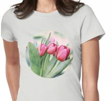 Twilight Tulips Womens Fitted T-Shirt