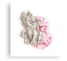 Blue eyes elephant, don´t forget me Canvas Print