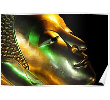 Statue Series. Head of Recling Buddha Poster