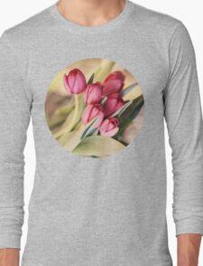 Vintage Tulips Long Sleeve T-Shirt