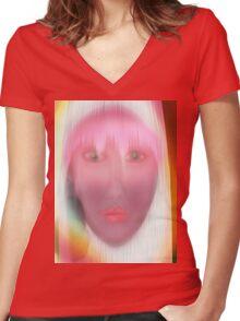 pop Women's Fitted V-Neck T-Shirt