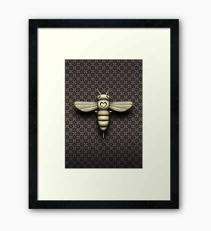 The Bee Cyborg Framed Print