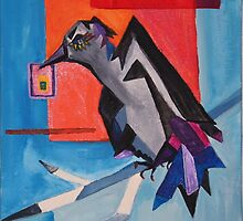 Raven the messenger 8x10 acrylic on canvas by eoconnor