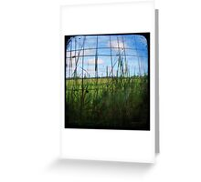 Through the Viewfinder and Fence Greeting Card