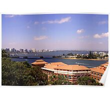 Perth as viewed from the Federation walkway Poster