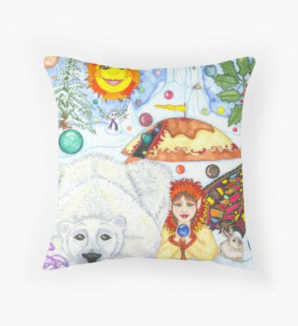 Bubble Bear  Throw Pillow