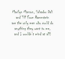 Marilyn, Salvador and Till Unisex T-Shirt
