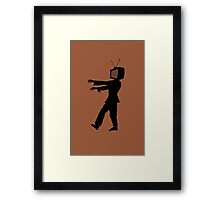 Zombie TV Guy by Chillee Wilson Framed Print