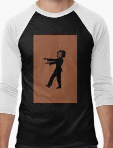 Zombie TV Guy by Chillee Wilson Men's Baseball ¾ T-Shirt