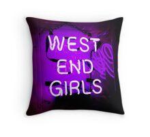 West End Girls  Throw Pillow