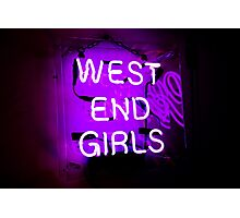 West End Girls  Photographic Print