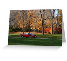 Cruising Through The Park Greeting Card