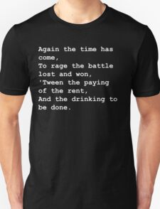 The drinking to be done - white T-Shirt