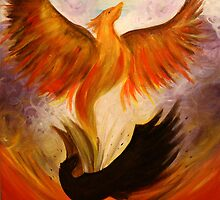 Phoenix. 22 x 28. Acrylic Painting. by csoccio100