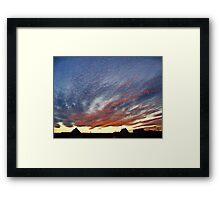 Mysterious Unusual Sky   Framed Print
