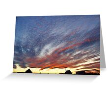 Mysterious Unusual Sky   Greeting Card
