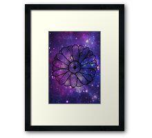 Space Floral Framed Print