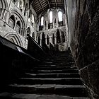 Hexham abbey stairs by collpics