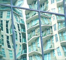 Reflections of Riverplace 2 by Caren