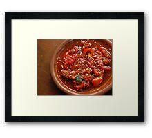 Tomato Sambal Framed Print