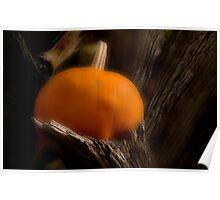Eerie Pumpkin Poster