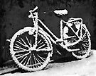 Bicycle  after snow fall by Manfred Belau