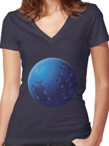 Firefox Nightly Logo Women's Fitted V-Neck T-Shirt