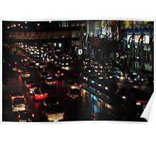 Bangkok street scene night Poster