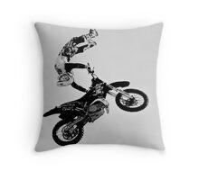 Stunt rider Throw Pillow