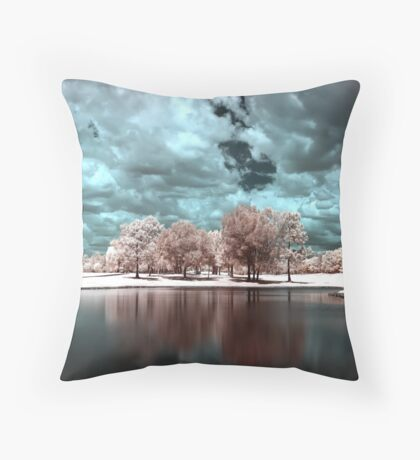Infrared Trees Throw Pillow