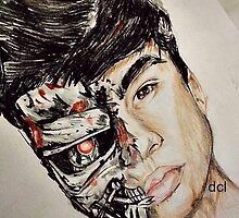 Calum Hood Robot Drawing by witchings