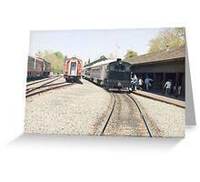 Rail Road Greeting Card